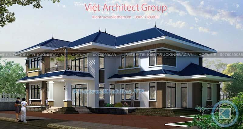 biet thu 2 tang mai thai 040519 2 - Dịch vụ Xây nhà trọn gói ở Trà Vinh