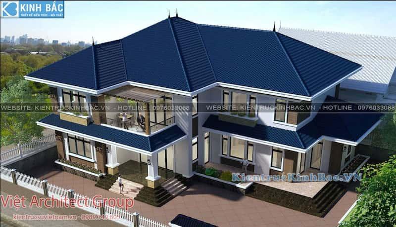 biet thu 2 tang mai thai 040519 3 - Thiết kế biệt thự 2 tầng