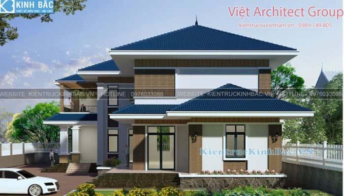 biet thu 2 tang mai thai 040519 4 699x400 - Dịch vụ Xây nhà trọn gói ở Tiền Giang