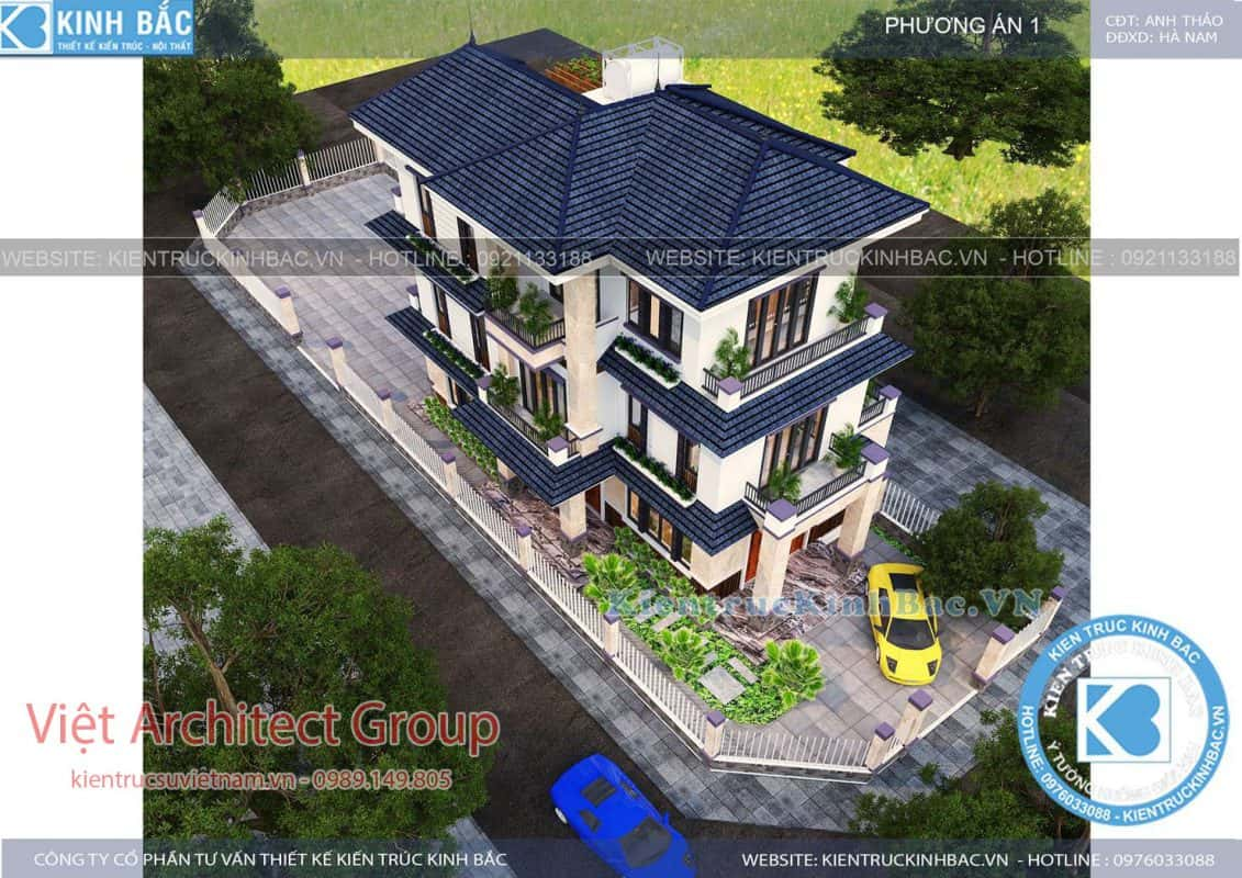 biet thu 3 tang 040519 1 1131x800 - Thiết kế biệt thự mái thái đẹp