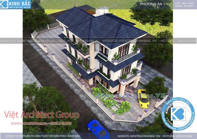 biet thu 3 tang 040519 1 - Thiết kế biệt thự mái thái đẹp