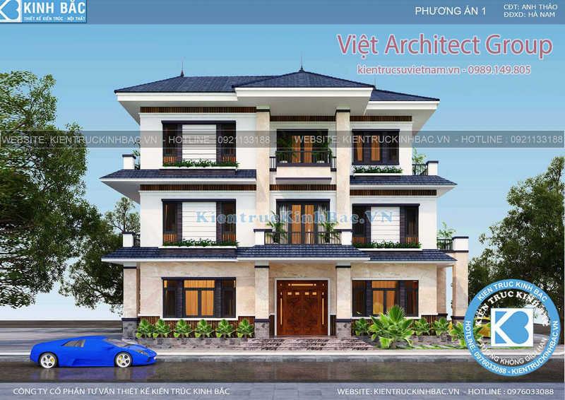biet thu 3 tang 040519 2 - Thiết kế nhà Phú Yên
