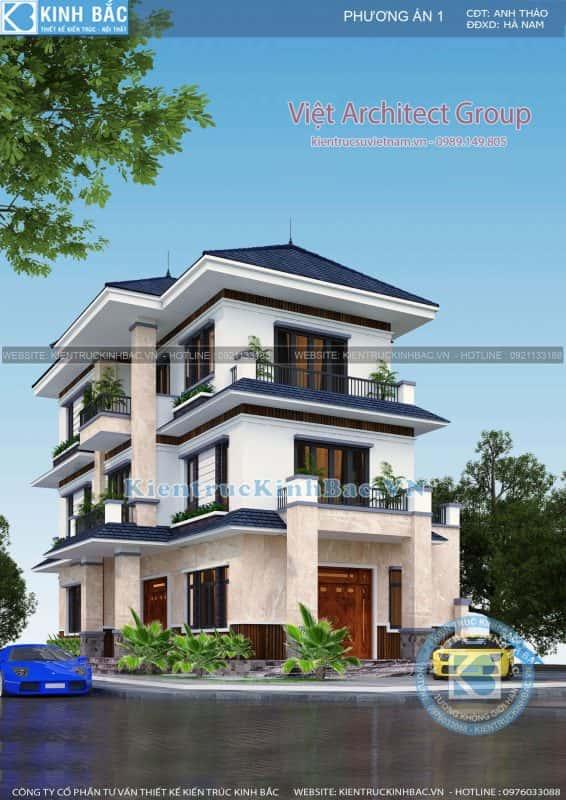 biet thu 3 tang 040519 3 566x800 - Thiết kế nhà Phú Quốc