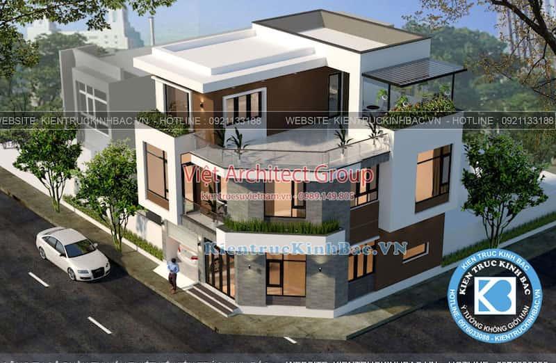 biet thu 3 tang 2 mat tien 040519 2 - Công trình biệt thự 3 tầng góc phố 2 mặt tiền