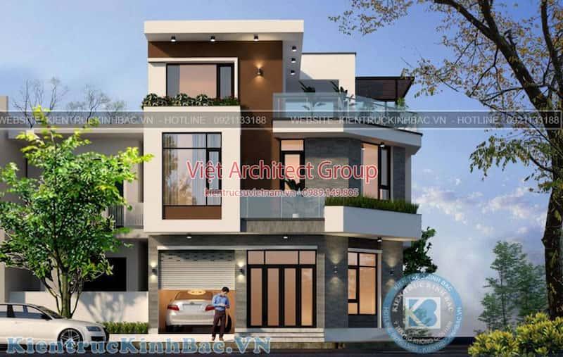 biet thu 3 tang 2 mat tien 040519 3 - Công trình thiết kế biệt thự 3 tầng góc phố 2 mặt tiền