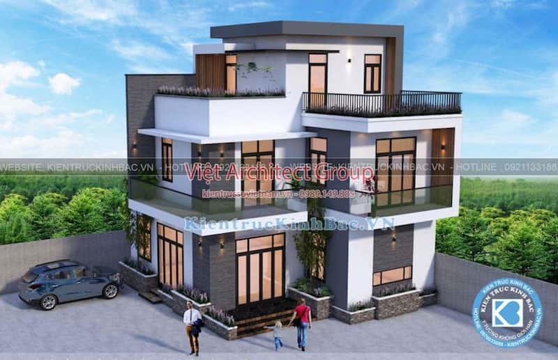 biet thu 3 tang hien dai ms4509 3 - Công trình biệt thự hiện đại 3 tầng anh Hưng - Đông Anh, Hà Nội