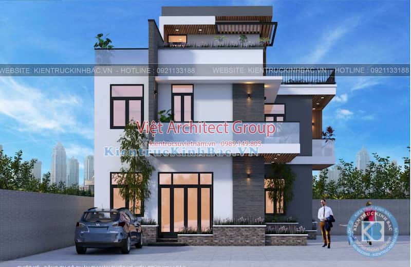 biet thu 3 tang hien dai ms4509 4 - Công trình biệt thự hiện đại 3 tầng anh Hưng - Đông Anh, Hà Nội
