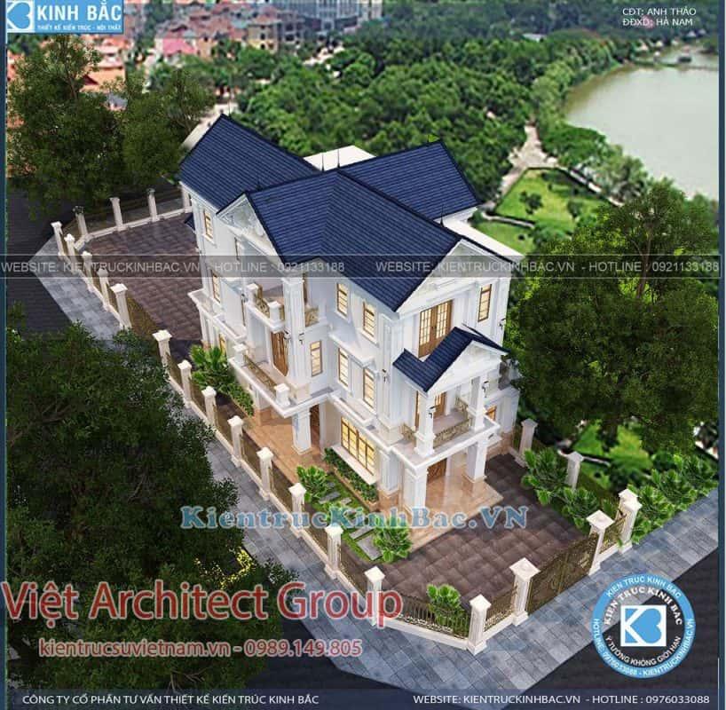 biet thu 3 tang tan co dien ms4509 3 818x800 - Dịch vụ Xây nhà trọn gói ở Yên Bái
