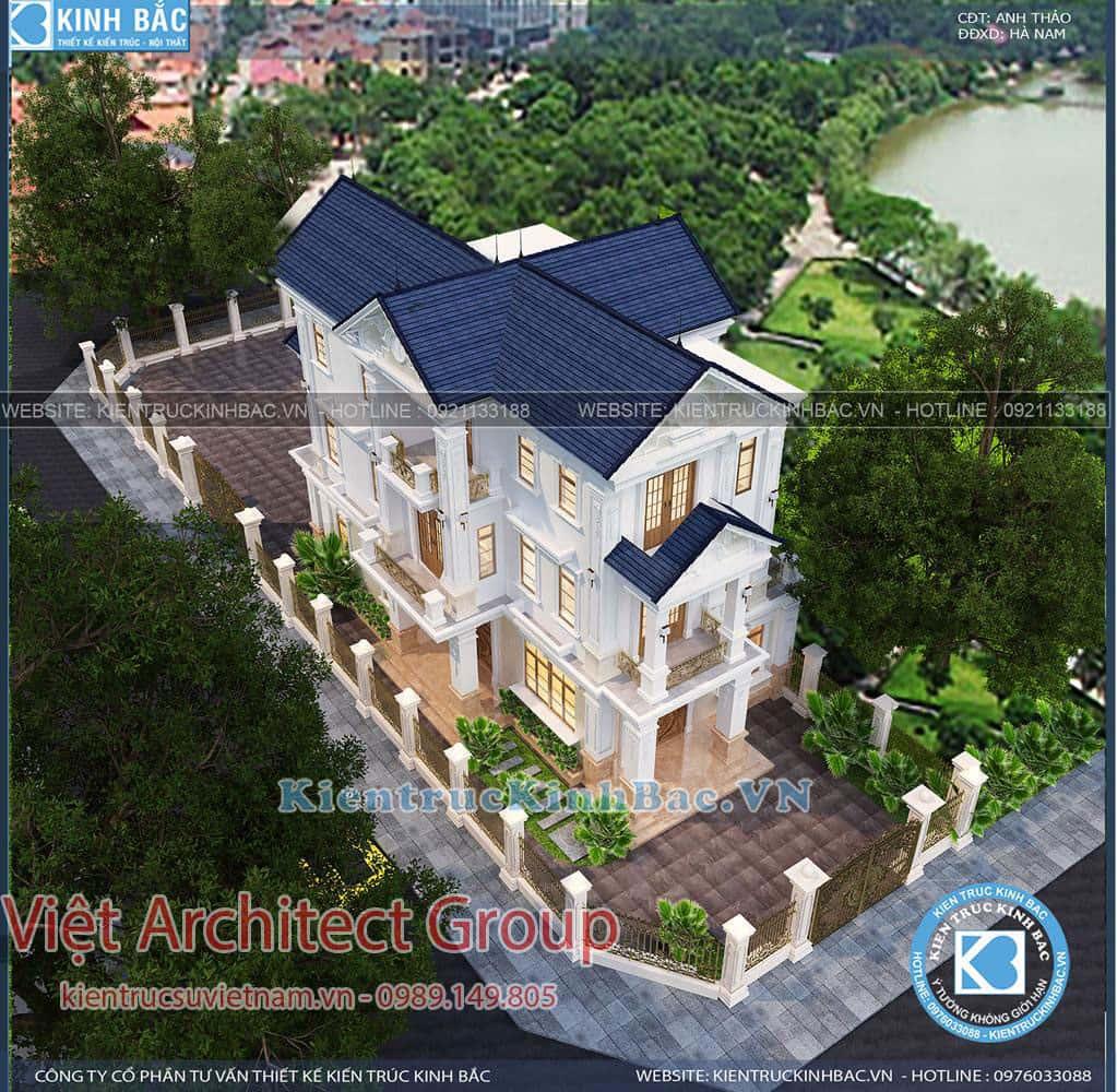 biet thu 3 tang tan co dien ms4509 3 - Công trình biệt thự tân cổ điển 3 tầng anh Thảo - Hà Nam