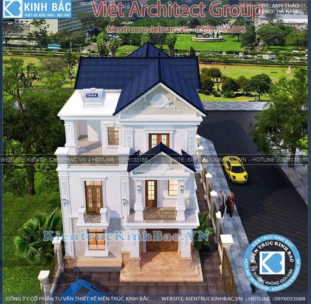 biet thu 3 tang tan co dien ms4509 6 - Công trình biệt thự tân cổ điển 3 tầng anh Thảo - Hà Nam