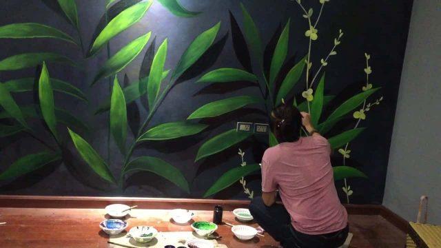 tranh tuong spa dep e1622715667846 - Vẽ tranh tường hoa lá đẹp ấn tượng