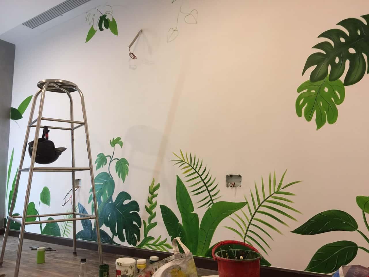 tranh tuong spa - Vẽ tranh tường cho spa