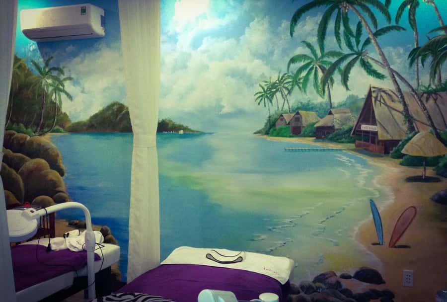 ve tranh tuong 3d spa lady house4 - Vẽ tranh tường cho spa