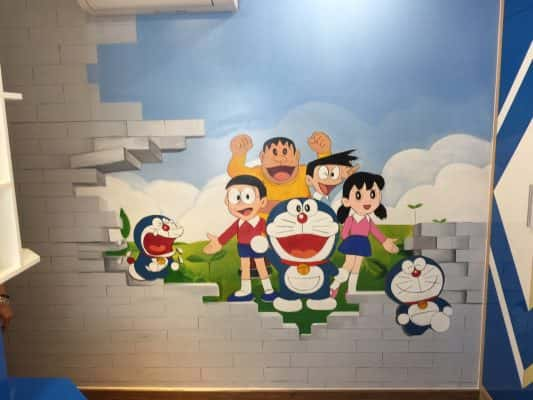 ve tranh tuong doremon 533x400 - Vẽ tranh tường doremon