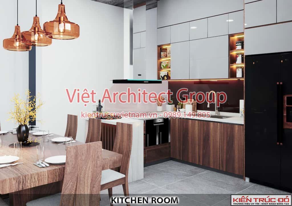 bep an 1 1 - Thiết kế và thi công Full nội thất biệt thự 1 tầng 3 phòng ngủ có hồ bơi ở Đà Nẵng