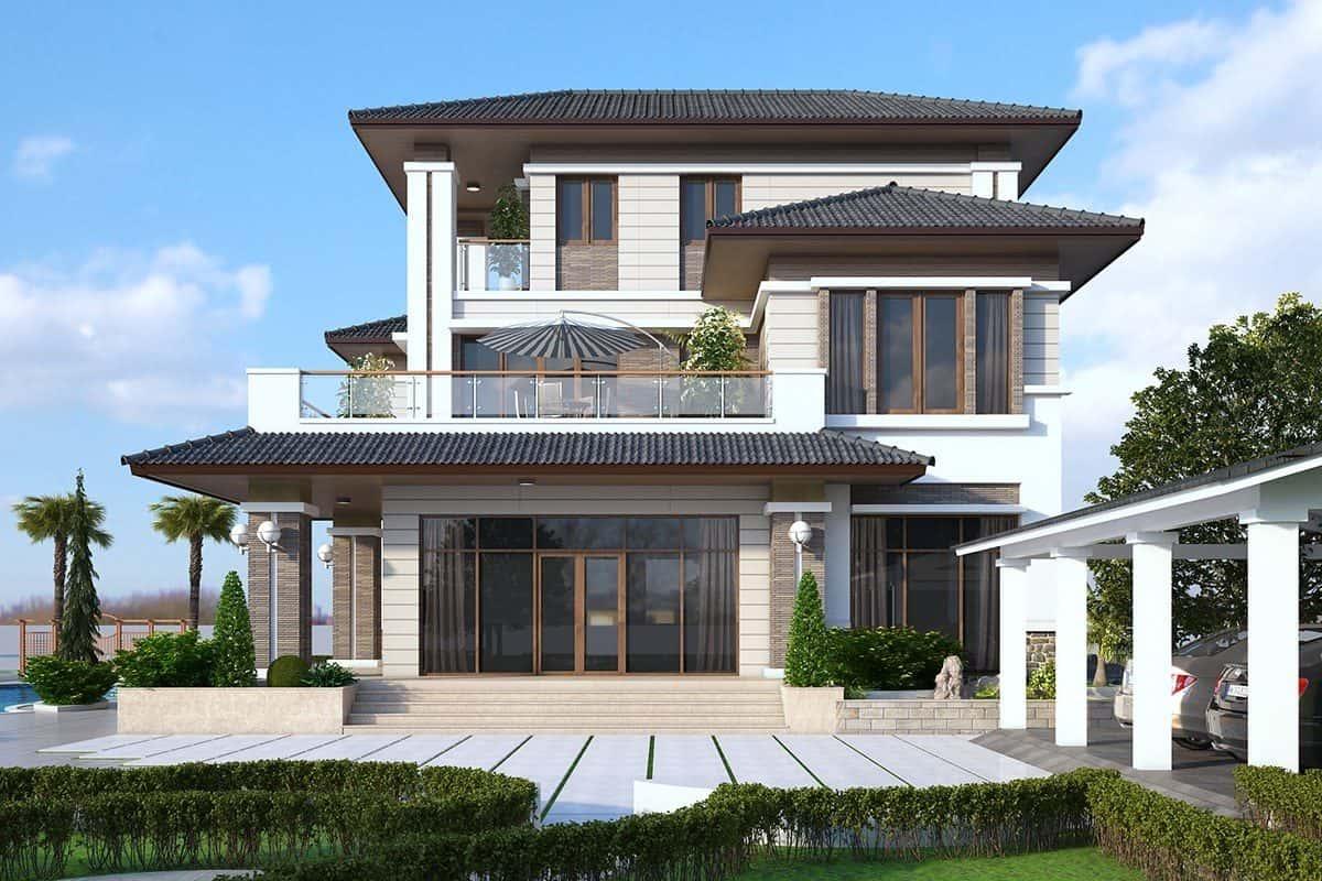 biet thu 2 tang mai thai dep 2019 1200x800 - Thiết kế nhà vườn đẹp