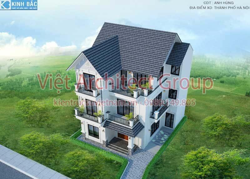 biet thu 3 tang mai thai view 3 - Chiêm ngưỡng mẫu thiết kế biệt thự 3 tầng mái thái tuyệt đẹp