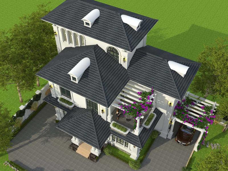 biet thu 3 tang tan co dien dep 4 - Chiêm ngưỡng mẫu thiết kế biệt thự 3 tầng mái thái tuyệt đẹp
