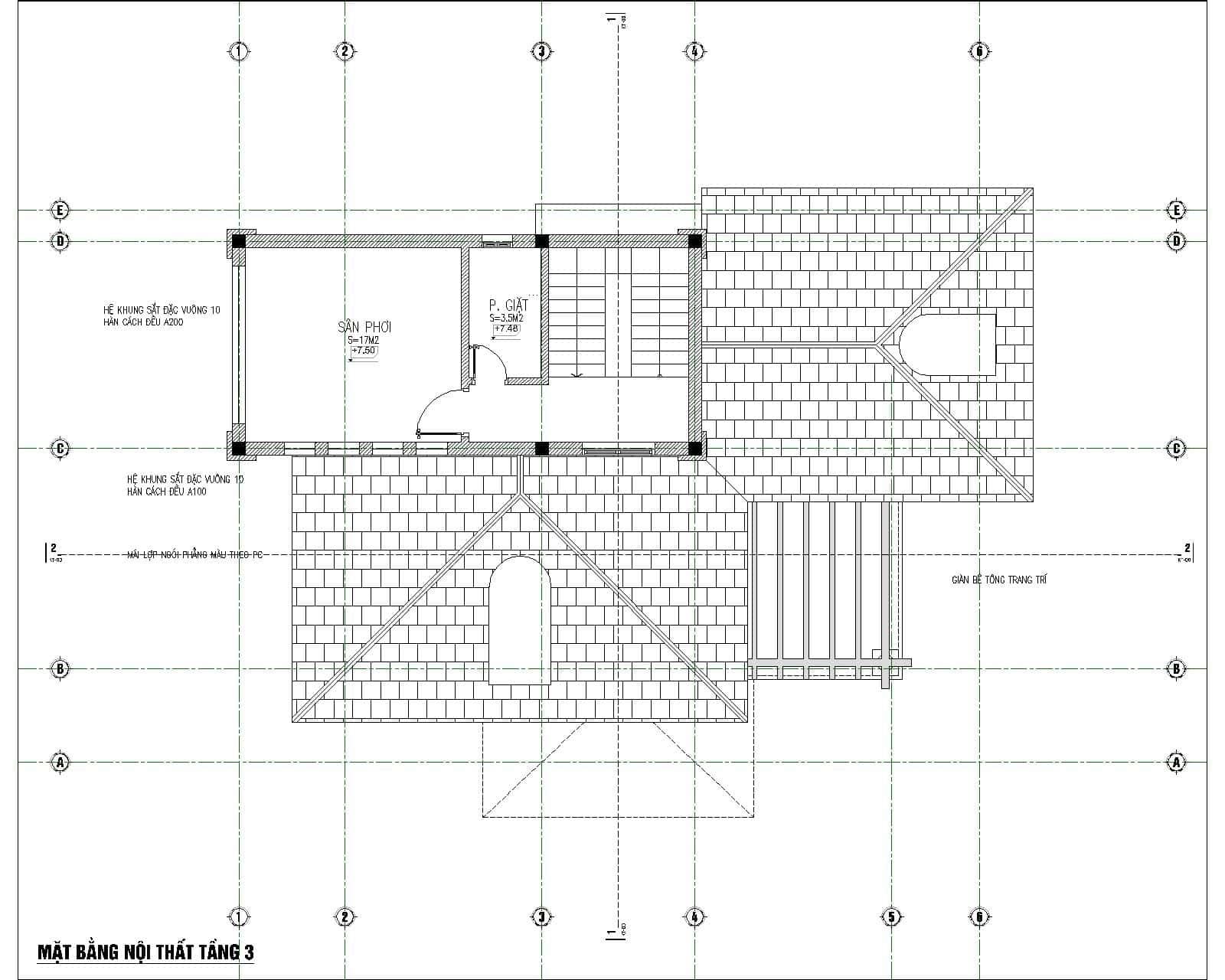 biet thu 3 tang tan co dien dep 7 - Chiêm ngưỡng mẫu thiết kế biệt thự 3 tầng mái thái tuyệt đẹp
