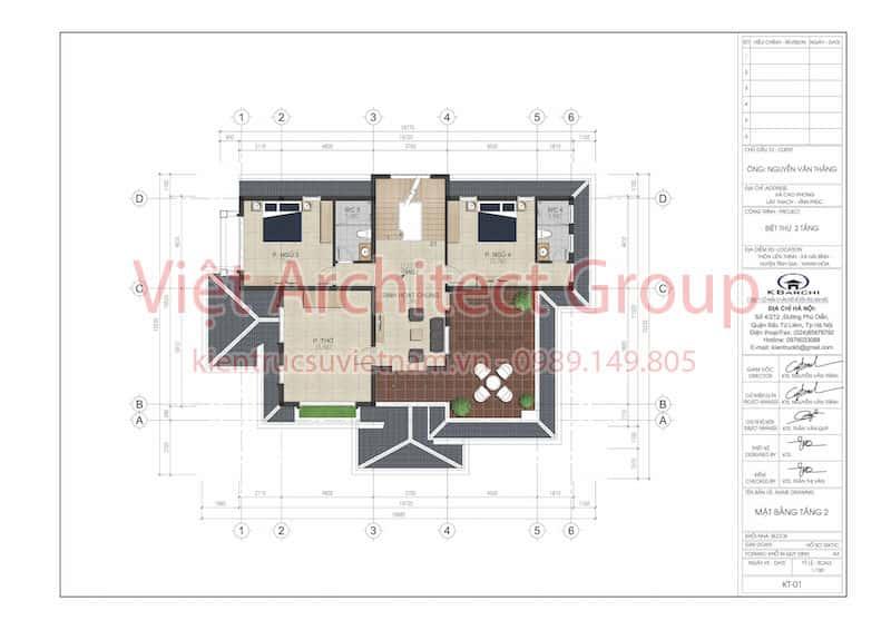 biet thu dep 2 tang mai thai.5 - Công trình biệt thự 2 tầng mái thái 150m2 ông Thắng ở Vĩnh Phúc
