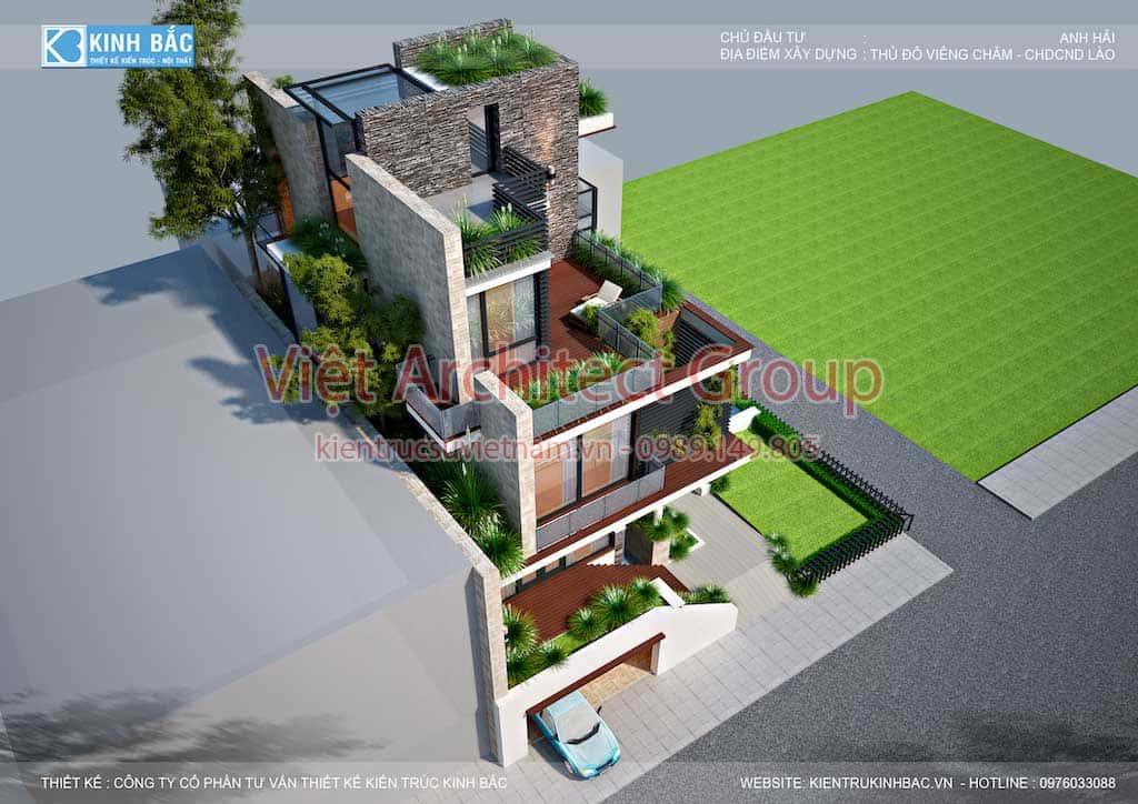 biet thu hien dai dep 3 tang G4 - Công trình biệt thự 3 tầng hiện đại đẹp sang trọng đẳng cấp ở Biên Hoà