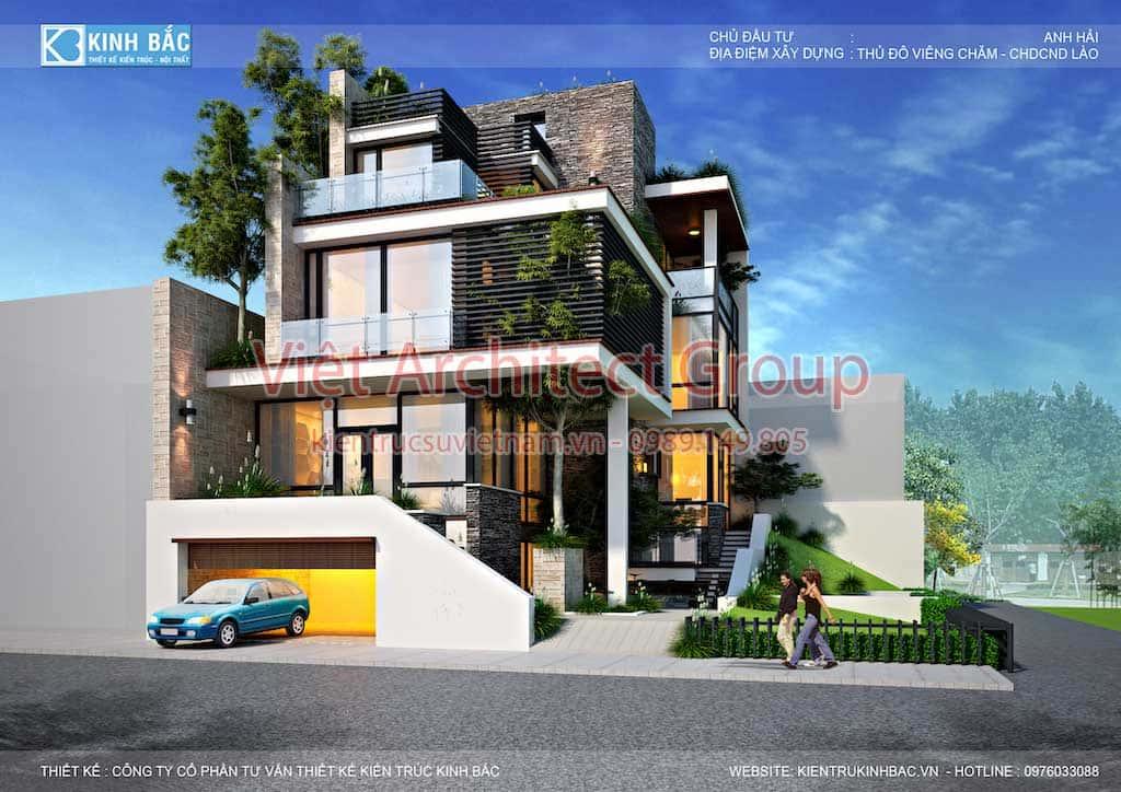 biet thu hien dai dep 3 tang G5 - Công trình biệt thự 3 tầng hiện đại đẹp sang trọng đẳng cấp ở Biên Hoà
