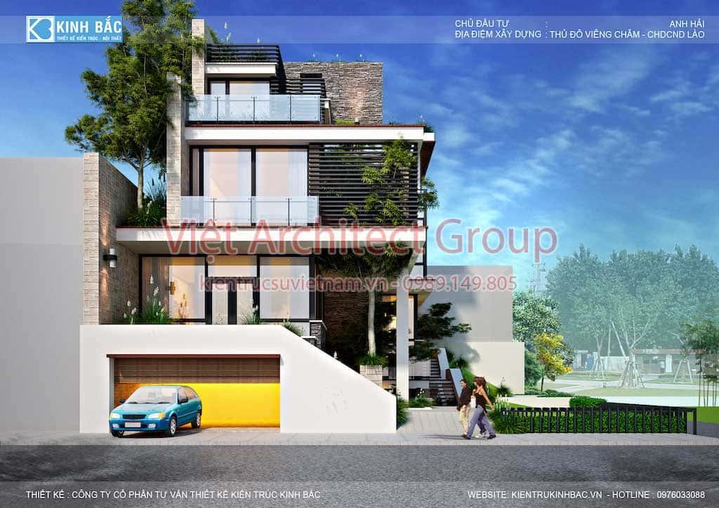 biet thu hien dai dep 3 tang G6 - Công trình biệt thự 3 tầng hiện đại đẹp sang trọng đẳng cấp ở Biên Hoà