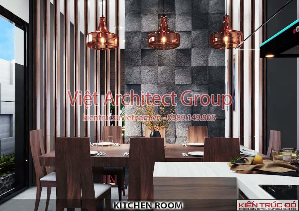 nha an - Thiết kế và thi công Full nội thất biệt thự 1 tầng 3 phòng ngủ có hồ bơi ở Đà Nẵng