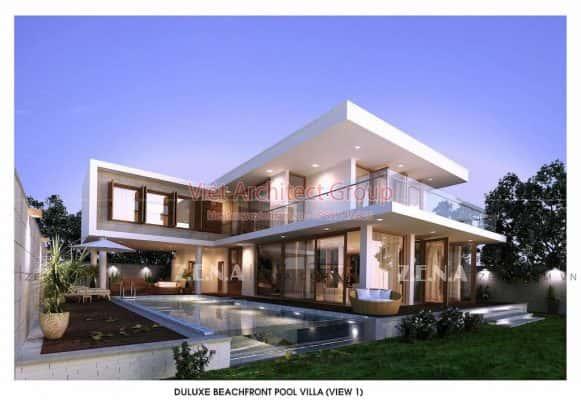 ACENZA VILLAS 2 581x400 - Công trình biệt thự 2 tầng kiến trúc hiện đại có bể bơi