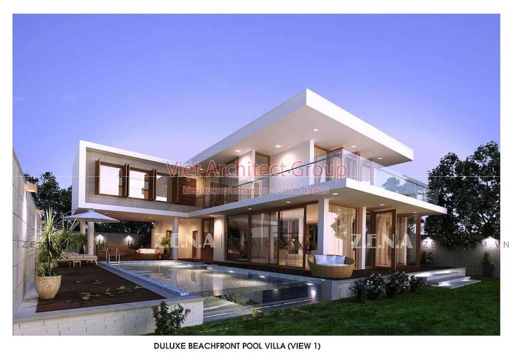 ACENZA VILLAS 2 - Công trình biệt thự 2 tầng kiến trúc hiện đại có bể bơi