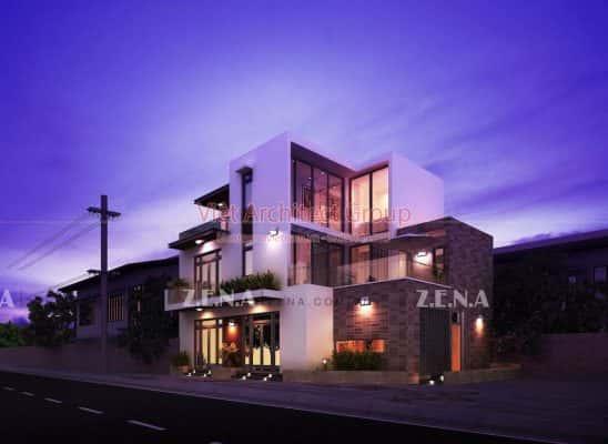 BH HOUSE 548x400 - Công trình biệt thự 3 tầng hiện đại đẹp sang trọng đẳng cấp ở Biên Hoà