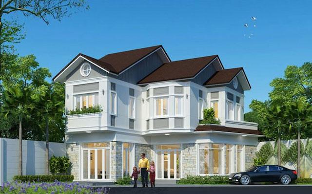 Ngam nhin mau nha biet thu 2 tang đẹp mai thai khong che dau duoc 1 - Thiết kế biệt thự mái thái 2 tầng đẹp