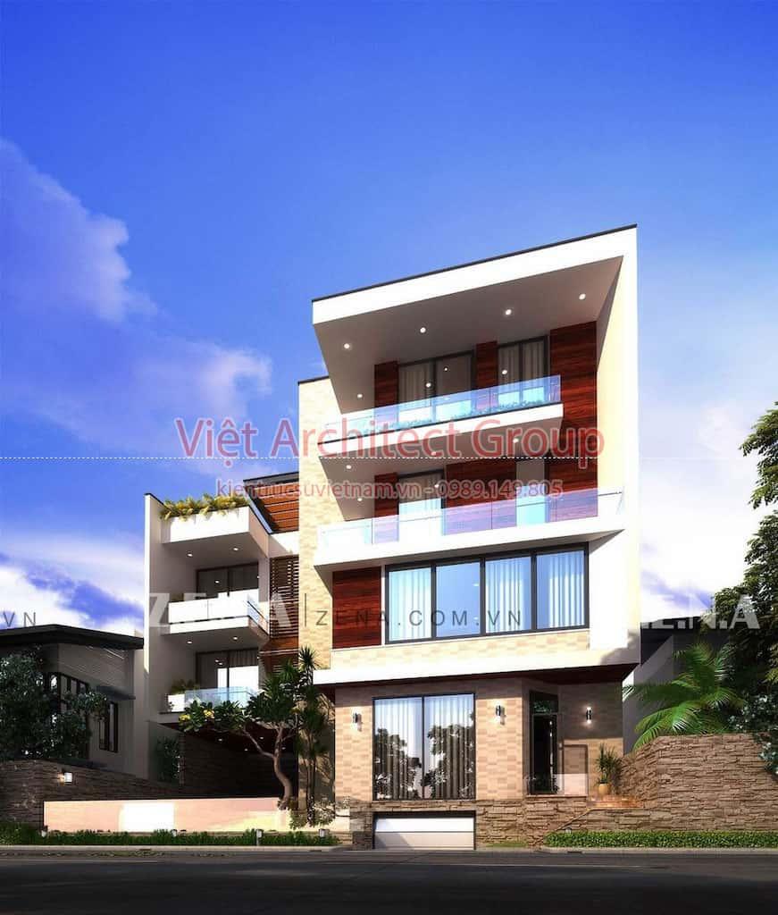 PI HOUSE 1 - Công trình biệt thự phố hiện đại 4 tầng đẹp