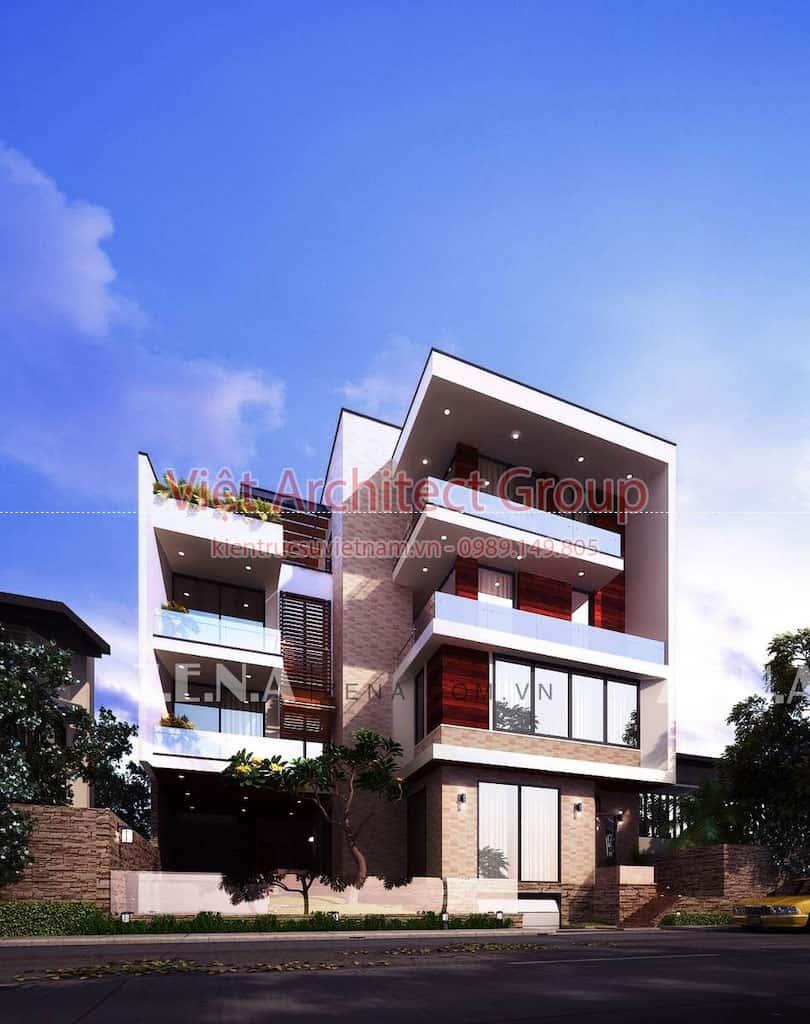 PI HOUSE 2 - Công trình biệt thự phố hiện đại 4 tầng đẹp