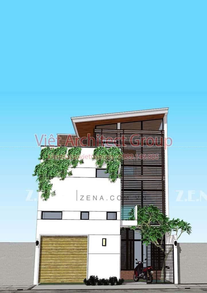 TH HOUSE 1 - Công trình biệt thự phố hiện đại mặt tiền đẹp ấn tượng