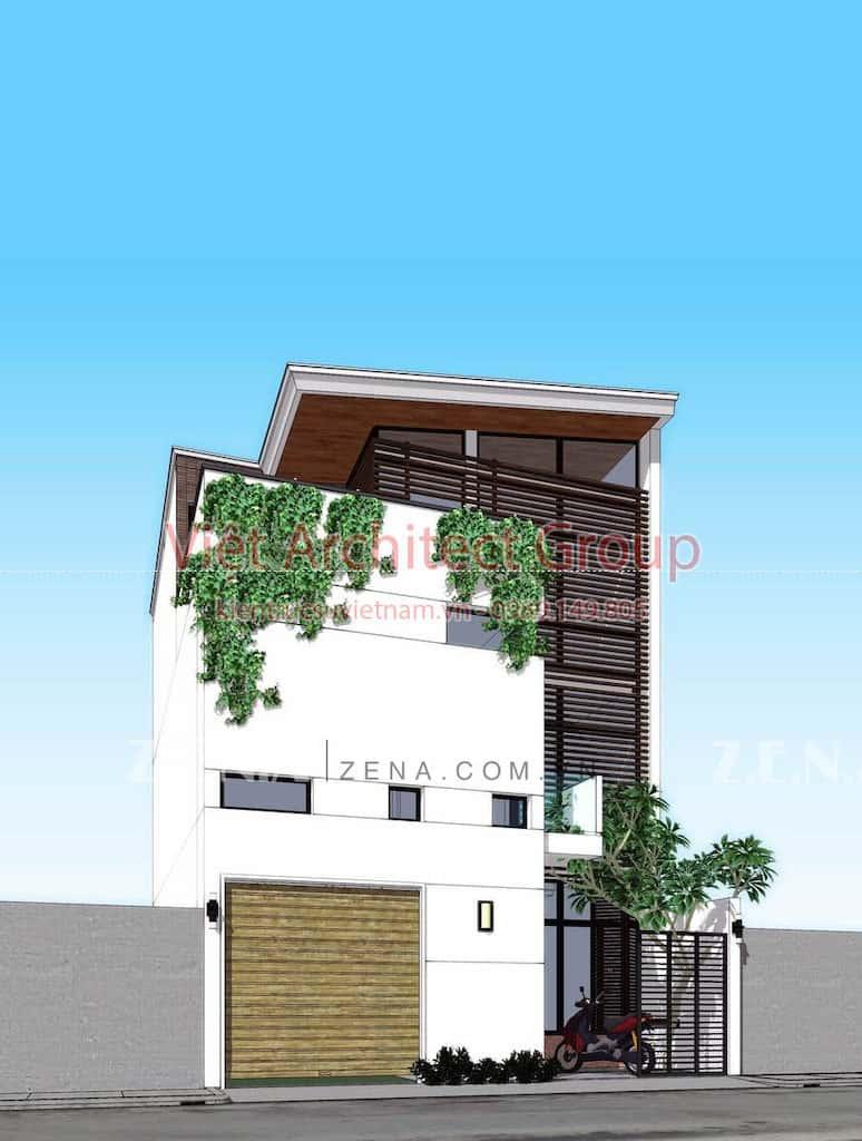 TH HOUSE 2 - Công trình biệt thự phố hiện đại mặt tiền đẹp ấn tượng