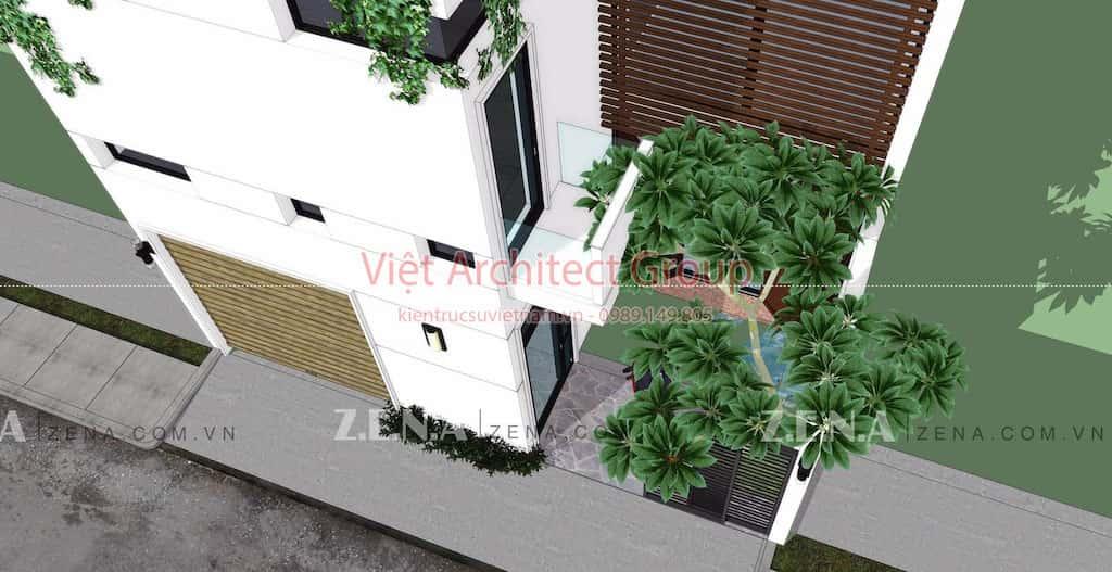 TH HOUSE 3 - Công trình biệt thự phố hiện đại mặt tiền đẹp ấn tượng