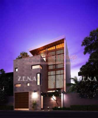 TH HOUSE 5 333x400 - Công trình biệt thự phố hiện đại mặt tiền đẹp ấn tượng