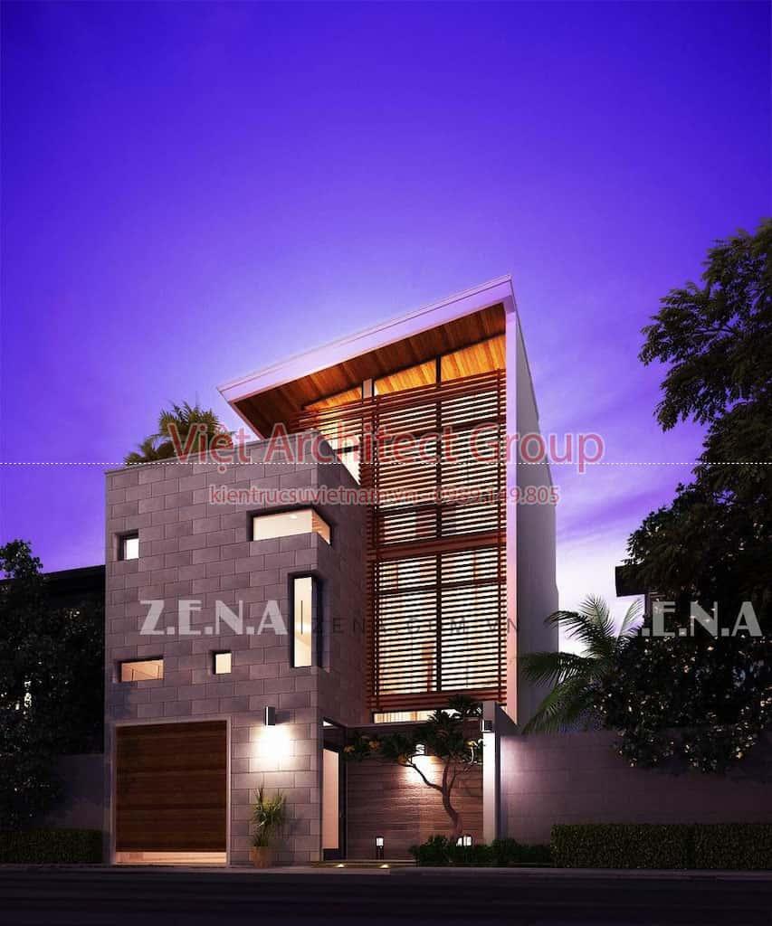 TH HOUSE 5 - Công trình biệt thự phố hiện đại mặt tiền đẹp ấn tượng