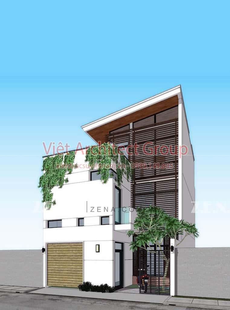 TH HOUSE - Công trình biệt thự phố hiện đại mặt tiền đẹp ấn tượng