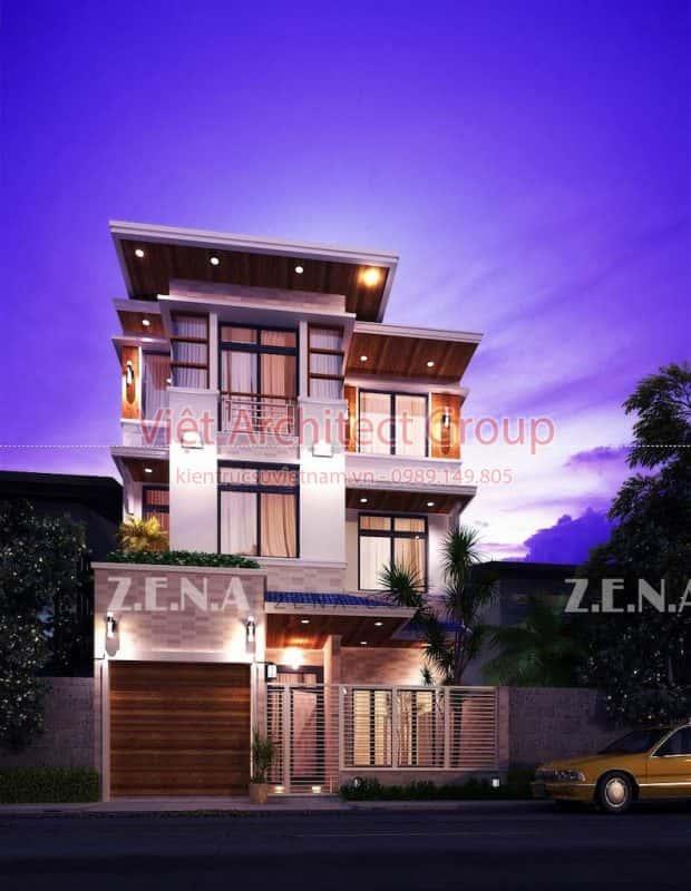 THU DUC HOUSE OPTION 2 620x800 - Công trình biệt thự phố hiện đại 4 tầng đẹp