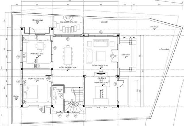 biet thu 2 tang mai thai hien dai dep 3 - Thiết kế biệt thự 2 tầng hiện đại kiến trúc mái thái diện tích 120m2 đẹp