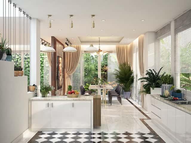 biet thu 2 tang mai thai hien dai dep 9 - Thiết kế biệt thự 2 tầng hiện đại kiến trúc mái thái diện tích 120m2 đẹp