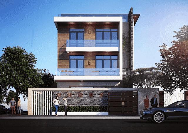 biet thu 3 tang 150m2 dep 1 - Chiêm ngưỡng thiết kế biệt thự hiện đại 3 tầng 2 mặt tiền đẹp