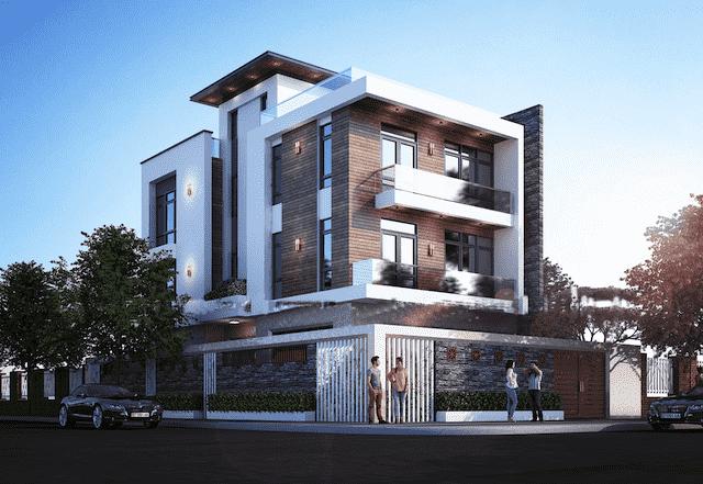 biet thu 3 tang 150m2 dep 2 - Chiêm ngưỡng thiết kế biệt thự hiện đại 3 tầng 2 mặt tiền đẹp