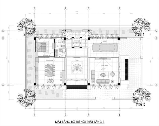 biet thu 3 tang 150m2 dep 3 - Chiêm ngưỡng thiết kế biệt thự hiện đại 3 tầng 2 mặt tiền đẹp
