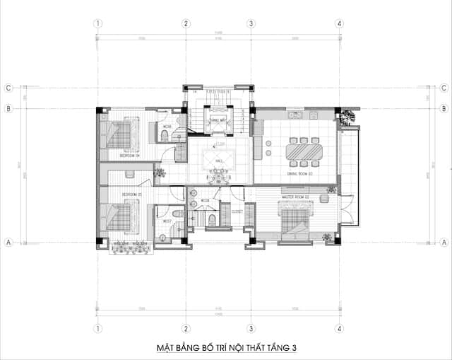 biet thu 3 tang 150m2 dep 5 - Chiêm ngưỡng thiết kế biệt thự hiện đại 3 tầng 2 mặt tiền đẹp