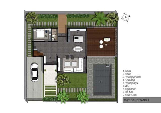 biet thu 3 tang 15x20 hien dai 5 - Thiết kế biệt thự 3 tầng hiện đại mặt tiền 15m đẹp đẳng cấp