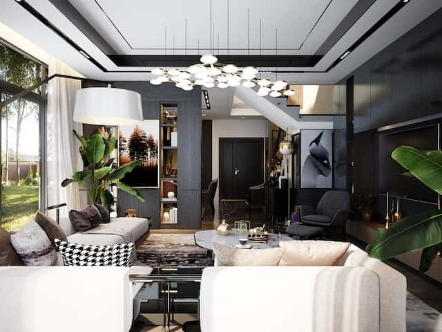 biet thu 3 tang 15x20 hien dai 9 - Thiết kế biệt thự 3 tầng hiện đại mặt tiền 15m đẹp đẳng cấp