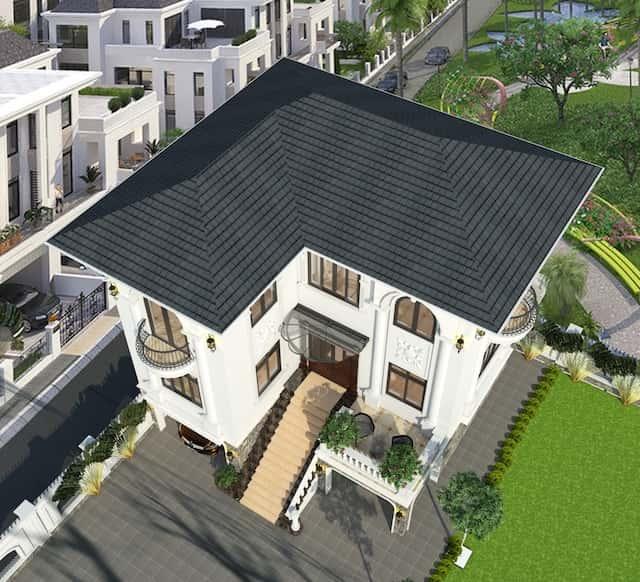 biet thu 3 tang 9x12 tan co dien 4 - Thiết kế biệt thự 3 tầng tân cổ điển sang trọng diện tích  9x12m